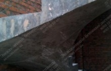 Гладкоподшитая лестница из бетона Бердичев