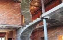 Голосеевка оригинальная лестница из бетона