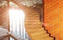 Голосеевка криволинейная бетонная лестница