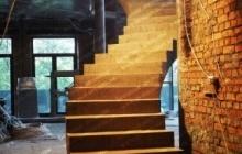 Монолитная бетонная лестница Голосеевка