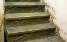 Конча Заспа бетонная монолитная лестница для дома