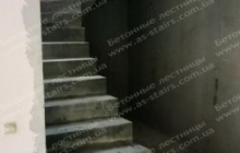 Осокорки вид лестницы из бетона снизу