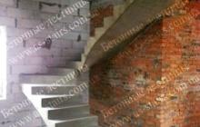 Монолитная лестница из бетона для дома