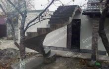 Строительство наружной монолитной криволинейной лестницы