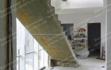 Монолитная лестница из бетона Ирпень