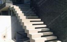 Наружная прямая лестница Таценки
