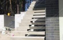Таценки прямая наружная лестница для дома