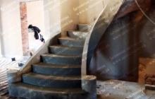 Строительство лестницы из бетона