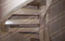 Изготовление винтовой монолитной лестницы