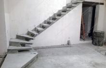 Бетонная лестница на боковом косоуре Подгорцы