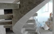 Изготовление бетонной лестницы на косоуре