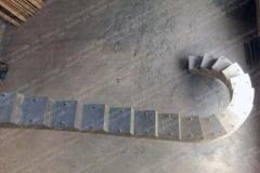 Изготовление лестницы из бетона на осокорках