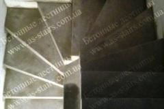 ЖК Празький монолитная лестница из бетона