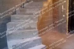 Криволинейная лестница из бетона Комфорт таун