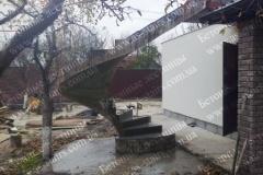 Изготовление наружной лестницы из бетона