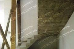 Г-образная бетонная лестница на заказ