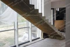 Прямая монолитная лестница Ирпень