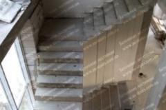 Лестница из бетона маршевая Лебедёвка