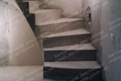 Драгоманова бетонные ступени в квартире