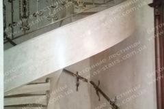 Рам винтовая лестницы из бетона с перилами