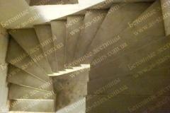 Строительство П-образной лестницы из бетона