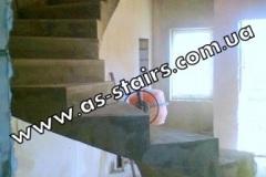 Оригинальная винтовая лестница из бетона