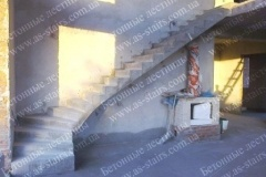 Изготовление Г-образной бетонной лестницы