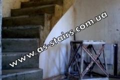 Криволинейная лестница из бетоан