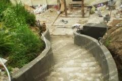 Строительство наружной железобетонной лестницы