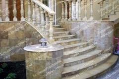 Красивая лестница из бетона