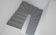 Лестница из бетона без перегородки