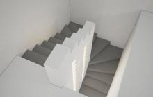Вариант 3 бетонной лестницы с перегородкой