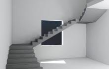 П-образная лестница из бетона