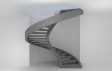 Винтовая лестница из бетона