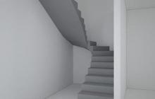 Вариант 1 бетонной лестницы без перегородки