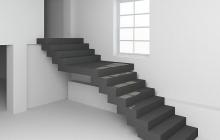Бетонная лестница двойной каркас