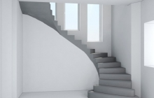 Лестница из бетона гладкоподшитая
