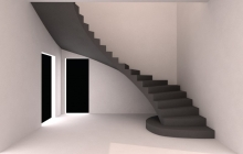 Криволинейная гладкоподшитая лестница