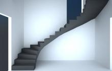 Бетонаня лестница в доме