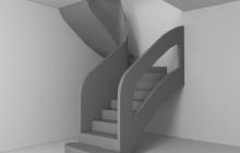 Бетонная лестница с перилами