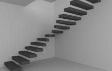Парящая бетонная лестница
