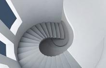 Эксклюзивная винтовая бетонная лестница