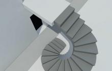 Винтовая наружная лестница из бетона