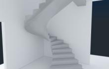 Винтовая внутренняя бетонная лестница