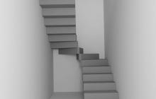 Бетонная зеркальная лестница