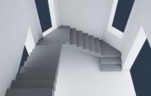 Маршевая П-образная лестница из бетона