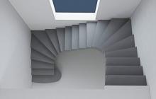 П-образная монолитная лестница
