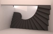 Гладкоподшитая лестница из бетона