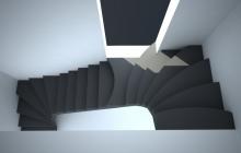 П-образная лестница с боковыми дверьми