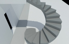 Монолитная наружная винтовая лестница